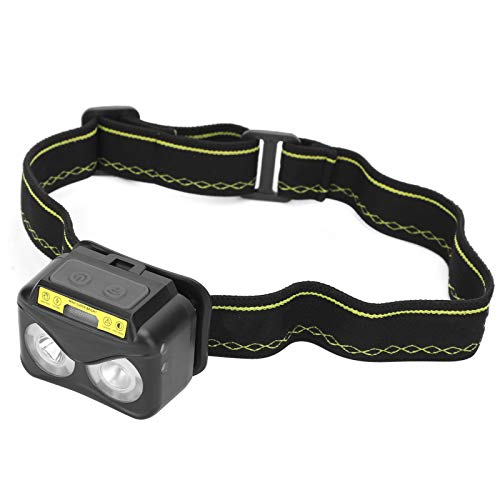 Interruptor doble Potente función Linterna de inducción multifunción Luz delantera de fuerte brillo, para viajar de noche, para iluminación
