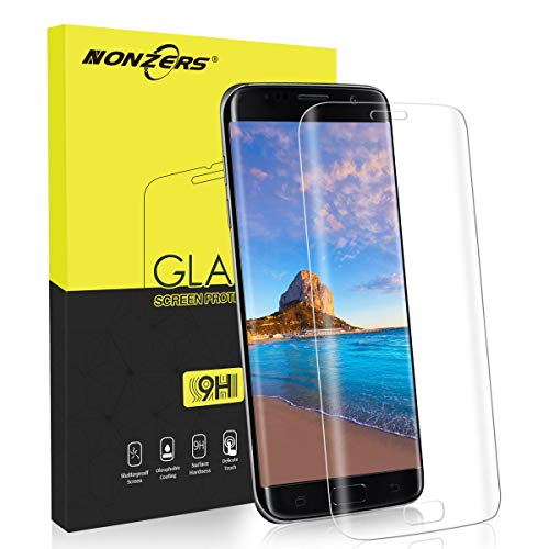 NONZERS Cristal Templado para Samsung Galaxy S7 Edge, [1 Unidades] 9H Dureza 3D...