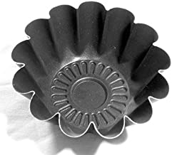 set 6 pezzi Formina budino mini babà stampo Diametro 11cm H.4,5cm pasticceria