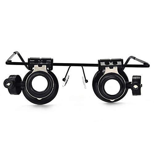 FDJBG Gafas Lupas Binoculares Lupas De Gran Aumento 20X para