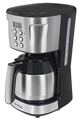 Gutfels Kaffeemaschine KA 8103 swi   12 Tassen   Filterkaffeemaschine   Thermoskanne   Tropfstopp   980 Watt Edelstahl, schwarz-inox