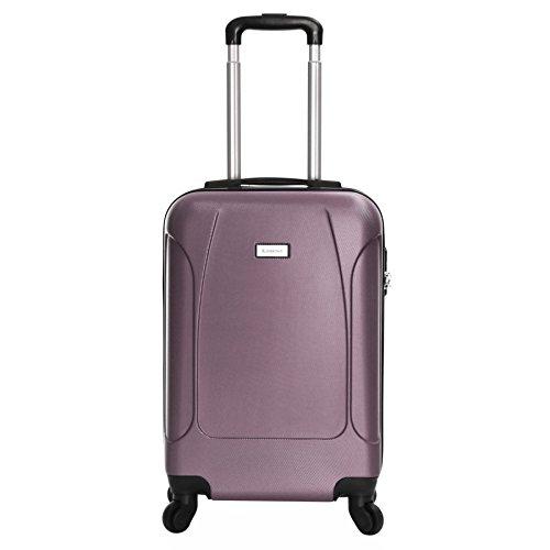 Slimbridge Alameda maleta trolley cabina ABS - Equipaje de mano rígida y ligera con 4 ruedas. Aprobado por la mayoría de las aerolíneas Ryanair, EasyJet, Wizzair, Vueling y muchos más, Oro Rosa