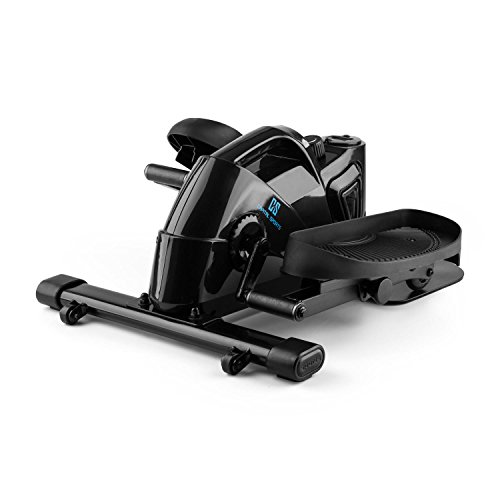 CapitalSports Mininoval Mini Bike Bicicleta elíptica Stepper (Entrenamiento en casa, Ordenador con Pantalla, Pedales y, Resistencia magnética Regulable) - Negro