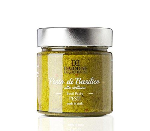 Handgemachtes sizilianisches Pesto mit Basilikum - 200g Glas