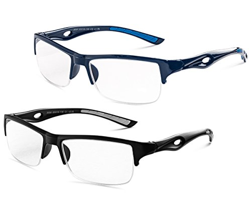 Specs Mens Half Rimmed Reading Glasses, Value Pack, All Magnification Strengths - coolthings.us