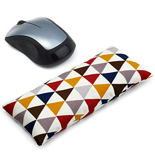 Mouse Wrist Rest Support Pad - Ergonomic Mouse Pad with Wrist Support for Computer, Laptop, Office Work, PC Gaming, Massage Ergobeads (Triangle)
