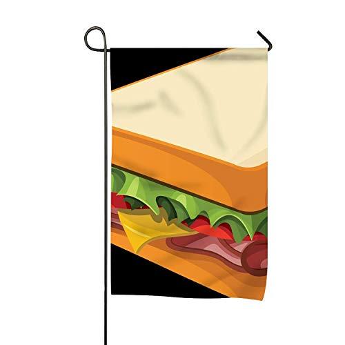 hongwei Inicio Decorativo Al Aire Libre Dibujos Animados Sandwich PNG Garden Flag, USA Vintage Holiday Seasonal Outdoor Flag