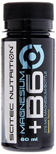 Scitec Nutrition Magnesium + B6, Minerale e Vitamina, Limone, 12 Flaconcini da 60 ml