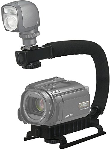 Pro Video Stabilizing Handle Grip for: Panasonic Lumix DMC-GX7, DMC-GX8, DMC-GX85, DMC-GX80, DMC-GX7 Mark II, DMC-L1, DMC-L10 Vertical Shoe Mount Stabilizer Handle