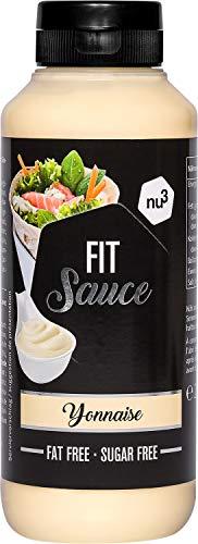 nu3 Smart Low Carb Yonnaise - 265 ml pro Squeezer Dosierflasche - Zucker- und Fettfrei - kalorienarme gesunde Alternative zu Ketchup und Barbecue Saucen - Ideal zu Fisch oder Salatdressings