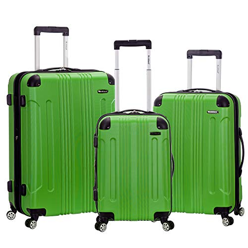 Rockland London Hardside Spinner Wheel Luggage, Green, 3-Piece Set (20/24/28)