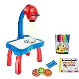 Juguete De Dibujo De La Máquina De Pintura De Proyección Inteligente Para Niños Educativos, Tableta De Proyector, Mesa De Proyector De Dibujo Para Niños Escritorio De Proyector Multifuncional