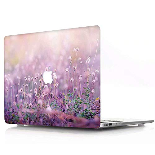 AQYLQ MacBook Pro 13 Inch Case 2020 Release A2251/A2289, Plastic Hard Shell Case Cover for New Mac Pro 13,3' with Touch Bar - Lavender R751