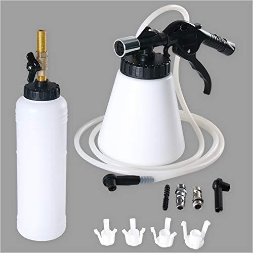 MILIWAN Kit Spurgo Freni Pneumatico per Auto o Moto Include 1 Pompa Aspirazione e 1 Bottiglia di Ricarica, Dispositivo Ad Aria Compressa per Sostituzione Olio Freni
