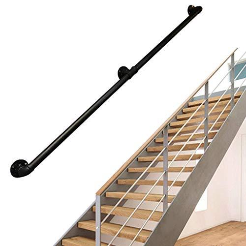 LTFS 1ft-20ft Rustic Industrial Pipe D & Eacute; Cor Baranda - Kit Completo. Barandilla de Escalera para Interior y Exterior