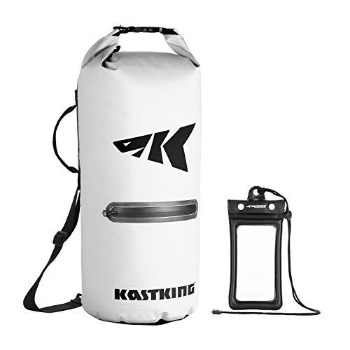 KastKing Cyclone Seal Dry Bag  BestinClass 100% Waterproof Bag with Phone Case Front Zippered Pocket Perfect for Beach Fishing Kayaking Boating Hiking Camping Biking Skiing