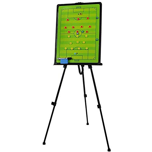 FVSG Taktiktafel Fussball Fußball Coaching Board Football Tactic Board Strategie Game Plan White Board Zwischenablage, Ausrüstung enorme Größe Training mit Stativ und Tragetasche