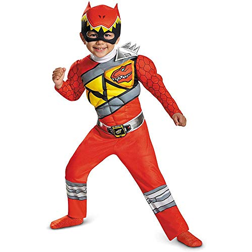 Cosplay Traje Morphers Power Rangers Bestia - Traje Clásico Ranger Rojo Childs 3-14 Años De Edad Red-S
