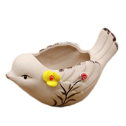 Black Temptation Extérieur Intérieur Créative Mini Ceramic Flower Container Pots Planters-Bird