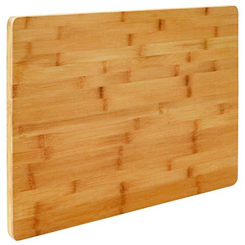 EYEPOWER 2cm Dickes XL Schneidebrett 50x35cm Bambus Holz Schneidbrett Holzbrett