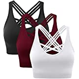 Women Seamless Padded Strappy Sports Bra Yoga...