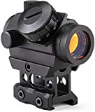 qijun T1G Red Dot Sight 1X20 Sights Reflex with 20mm Rail Mount & Increase Riser Rail Mount riflescope aimpoint