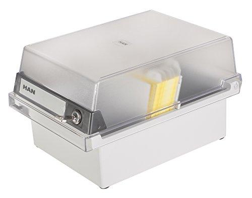 Han-Bürogeräte Card - Archivador de fichas tamaño A6 77 x 140 x 250 mm color gris