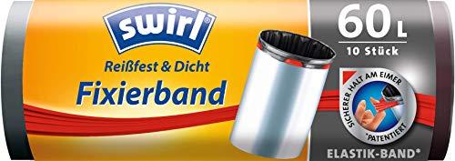 Swirl Fixierband-Müllbeutel 60 Liter, 1 Rolle, 10 Beuteln