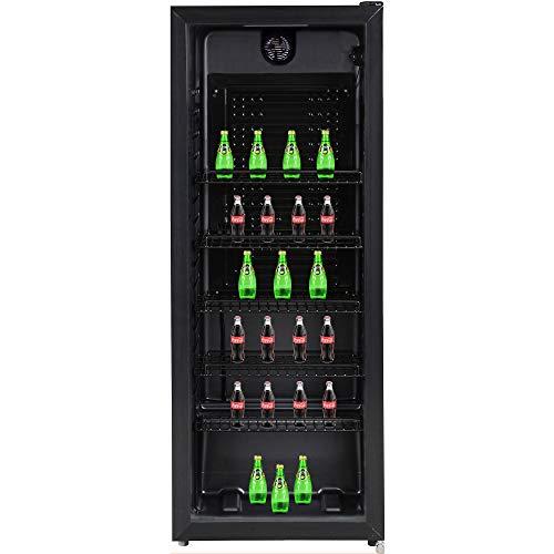 Syntrox Germany Getränkekühlschrank, Showcase, Kühlschrank mit Glastür, geräuscharm, freistehend, 241 Liter