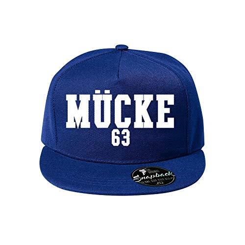 OwnDesigner Mücke 63 Baseball Cap - Unisex Mütze, Kappe für Herren und Damen, einfarbige Basecap, rundum geschlossen (410-Cap5P-4Blau)