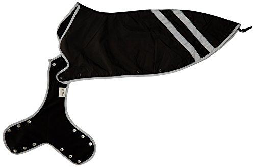 HUNTER Safety Hundemantel, reflektierend, wasserabweisend, verstellbar, 34, schwarz