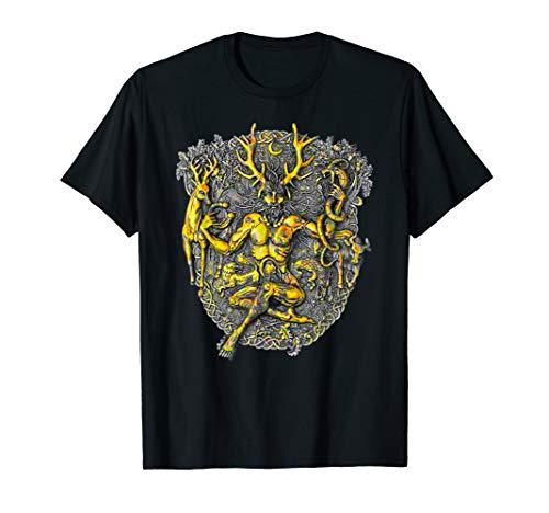 Cernunnos Deer Horned Celtic God T-shirt