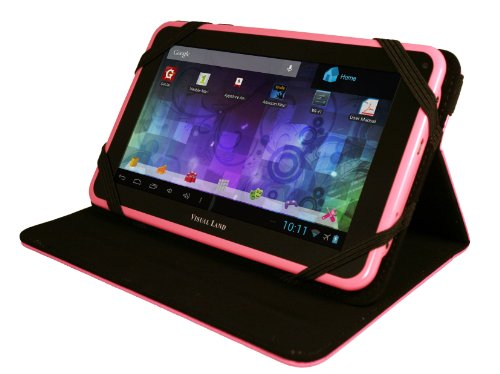 "Visual Land Prestige 7L-TC - 7"" Android Tablet with 8GB Memory and Bonus Tablet Case (Pink)"