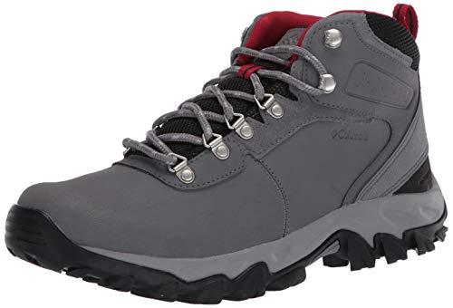 Botas de Senderismo Columbia Newton Ridge Plus II Impermeables de Piel & Suede Hiking Boot, Color Gris, Talla 41.5 EU Weit