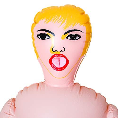 Happy Face - Muñeca Hinchable para Despedidas de Soltero o Fiestas para Hombres. Muñeca Inflable de 150cm.