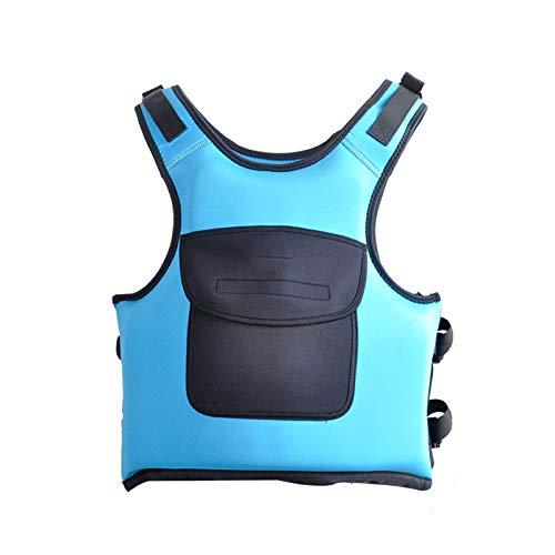 WANGT Chaleco De Vida, Chalecos De Vida Adultos Unisex Reflexivo Ajustable Snorkel Snorkel Chaleco para Nadar Kayak Paddle Boarding,Azul,XL