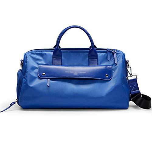 SYFO Trocken- und Nassabscheidung Sportgymnastiktasche Multifunktionale Kurzstreckenreisekleidung Aufbewahrungstasche Tragbare Golftasche Unabhängige Schuhe tragen 3 Farben (Color : Blue)