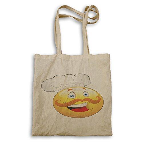 INNOGLEN Smile Jefe Chef Face Novedad Funny Vintage Art bolso de mano a248r