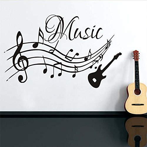 IDECORATE Etiqueta De La Pared del Mapa Mundial,Notas Musicales Música Guitarra...