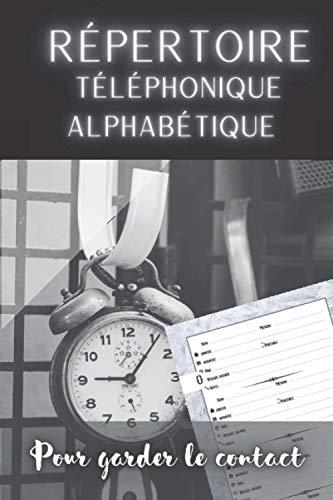 Répertoire Téléphonique Alphabétique pour Garder le Contact: Petit Cahier Répertoire Vintage Original   16 ou 8 Contacts par Lettre en fonction de leur fréquence