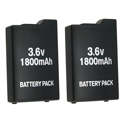 EopZol 2Pcs 3.6V 1800mah Rechargeable Battery for Sony PSP-110 PSP-1001 PSP 1000 Replacement