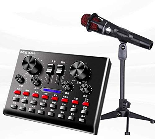 USB-microfoon, geluidskaart V8s Voice Converter Set Externe geluidskaart Set Bluetooth Begeleiding Meerdere Geschikt voor mobiele computerspellen en live