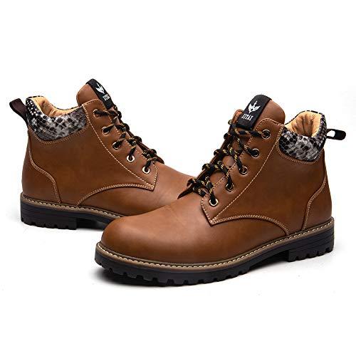 JITAI Leder Chukka Herren Stiefel Winter wasserdichte Stiefeletten Reitstiefel Outdoor Working Snow Boots Herren Schuhe