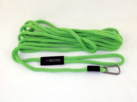 Soft Lines PSW10630LIMEGREEN Floating Dog Swim Snap Leashes 0.37 in....