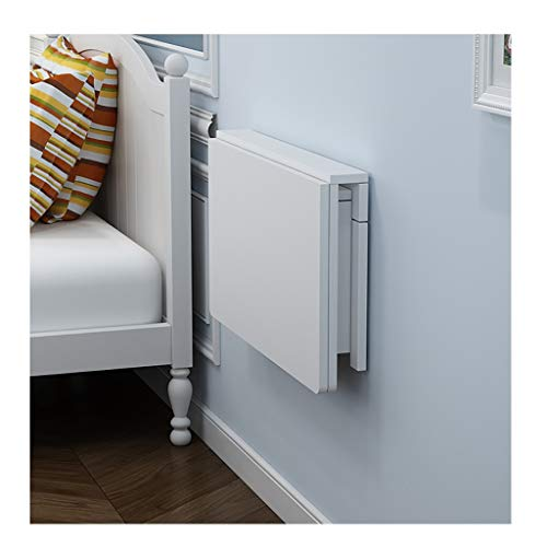 Mesa de pared Mesa de comedor blanca montable en la pared, escritorios de pared for espacios pequeños, mesa plegable de madera, construcción estable y resistente, mesa plegable de pared, fácil de inst