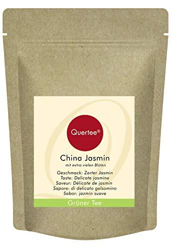 Grüner Tee - China Jasmin Tee mit extra vielen Blüten mit zartem Jasmin Geschmack - 250 g von Quertee