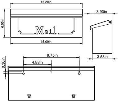 Gibraltar Mailboxes Townhouse Small Capacity Galvanized Steel Black, Wall-Mount Mailbox, THHB0001