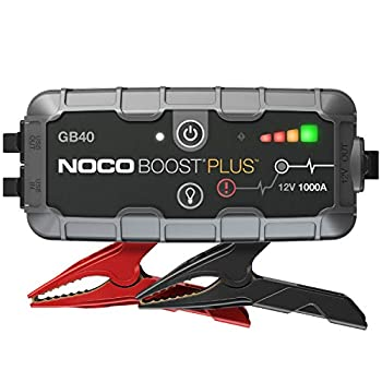 NOCO Boost Plus GB40 1000 Amp 12-Volt UltraSafe Lithium Jump Starter Box Car Battery Booster Pack Portable Power Bank Charger and Jumper Cables For Up To 6-Liter Gasoline and 3-Liter Diesel Engines