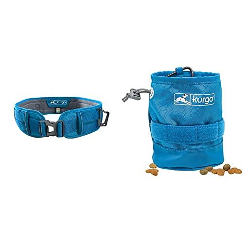 Kurgo RSG Hundegürtel, Freihandleine für Sport, Freihändiges Laufen und Wandern, Verstellbar von 71 bis 114 cm, Blau