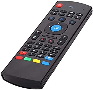 ام اكس 3، جهاز اير ماوس مع جهاز تحكم عن بعد، 2.4 جي، مع لوحة مفاتيح، متوافق مع اجهزة ميني بي سي، تي في بوكس ذكي اندرويد، ا...
